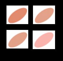 パウダーUVFD 4色カラー
